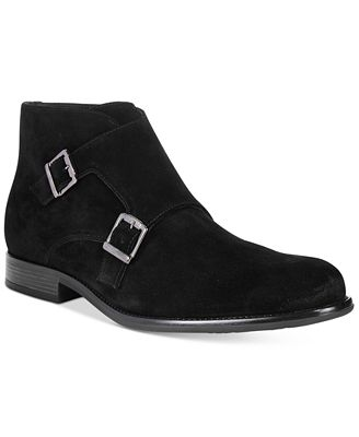 Bar III Men's Dante Double Monk Chukka Suede Boots, Only at Macy's