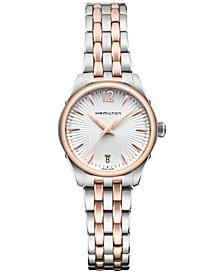 Hamilton Women's Swiss Jazzmaster Lady Two-Tone Stainless Steel Bracelet Watch 30mm H42221155