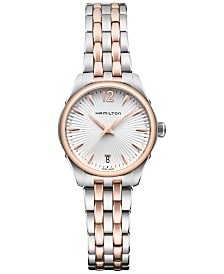 Hamilton Women's Swiss Jazzmaster Lady Two-Tone Stainless Steel Bracelet Watch 30mm H42221155