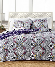 CLOSEOUT! Barcelona Reversible 3-Pc. Full/Queen Quilt Set