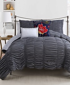 CLOSEOUT! Holly 5-Pc. Reversible Comforter Sets