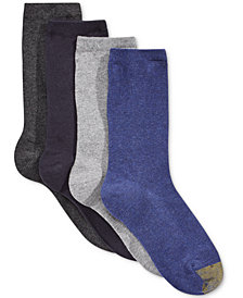 Gold Toe Women's 4-Pk. Flat Knit Solid Socks, Created for Macy's