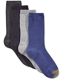 Gold Toe Women's 4 Pack Flat Knit Solid Socks, Created for Macy's