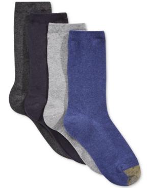 Women's 4 Pack Flat Knit Solid Socks