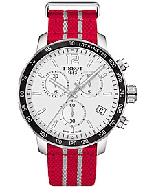 Unisex Swiss Chronograph Houston Rockets Quickster Red & White Strap Watch 42mm T0954171703712