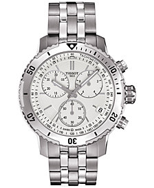Tissot Men's Swiss Chronograph PRS 200 Stainless Steel Bracelet Watch 42mm T0674171103101