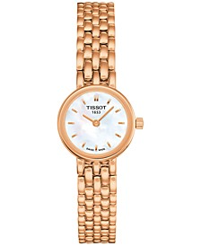 Women's Swiss Lovely Rose Gold-Tone PVD Stainless Steel Bracelet Watch 20mm T0580093311100
