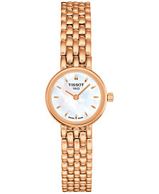 Tissot Women's Swiss Lovely Rose Gold-Tone PVD Stainless Steel Bracelet Watch 20mm T0580093311100