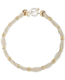 Two-Tone Multi-Chain Ringed Collar Necklace
