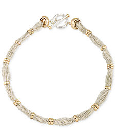 Lauren Ralph Lauren Two-Tone Multi-Chain Ringed Collar Necklace