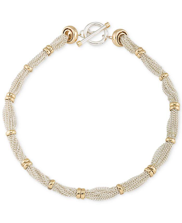 Lauren Ralph Lauren - Two-Tone Multi-Chain Ringed Collar Necklace