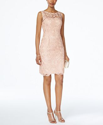 Adrianna Papell Lace Sheath Dress - Women - Macy's