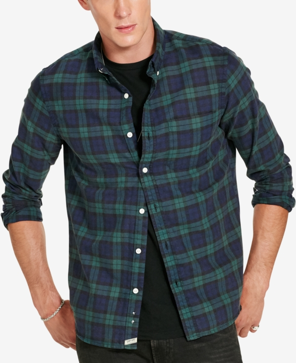 Denim & Supply Ralph Lauren Men's Plaid Oxford Shirt
