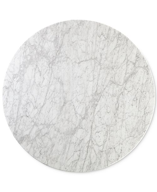 Furniture Closeout Callisto Marble Round Dining Table