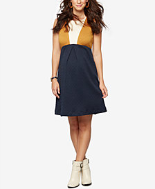 A Pea In The Pod Maternity Colorblocked Fit & Flare Dress