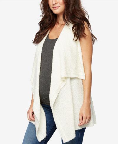 A Pea In The Pod Maternity Draped Vest