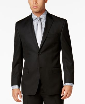 Men's Classic-Fit Black Solid Jacket