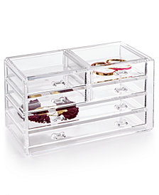 Honey Can Do Acrylic Stephanie Jewelry Chest