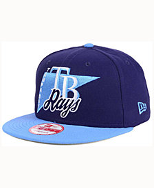 New Era Tampa Bay Rays Logo Stacker 9FIFTY Snapback Cap