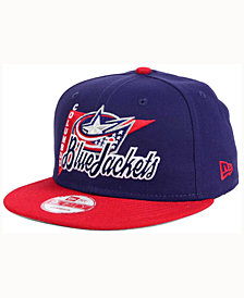 New Era Columbus Blue Jackets Logo Stacker 9FIFTY Snapback Cap