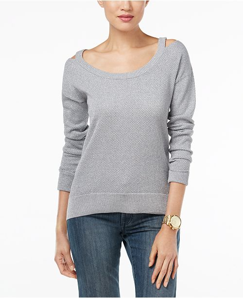 Michael Kors Cold-Shoulder Sweater, Created for Macy's