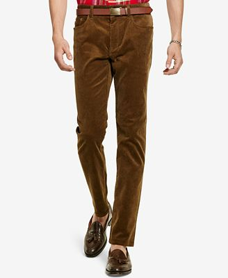 Polo Ralph Lauren Men's Straight-Fit Stretch Corduroy Pants ...