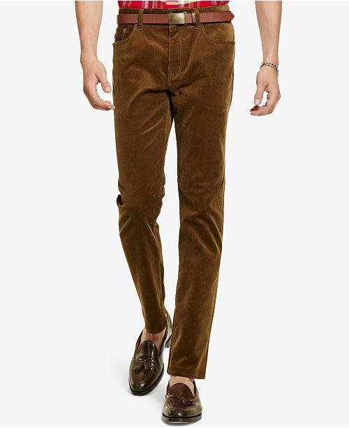 Lauren Ralph Polo Corduroy Men's Fit Straight Stretch Pants SpUMqzVLG