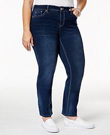 Hydraulic Trendy Plus Size Lola Blue Wash Straight-Leg Jeans