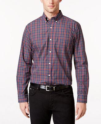 Tricots St Raphael Men's Big & Tall Plaid Shirt