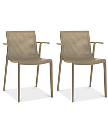 Beekat Set of 2 Indoor/Outdoor Armchairs, Quick Ship