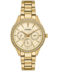 Citizen Women's Quartz Gold-Tone Stainless Steel Bracelet Watch 36mm ED8168-58P, Created for Macy's