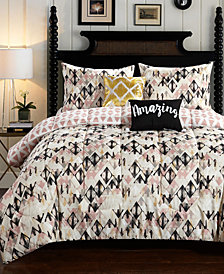 CLOSEOUT! Aubree Diamond 4-Pc. Twin/Twin XL Comforter Set