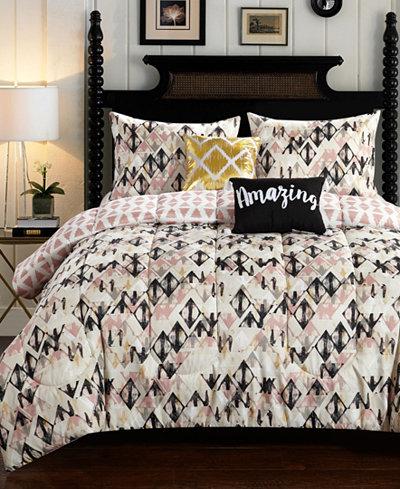 CLOSEOUT! Aubree Diamond 4-Pc. Twin/Twin XL Comforter Set