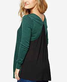 A Pea In The Pod Maternity Cross-Back Sweater