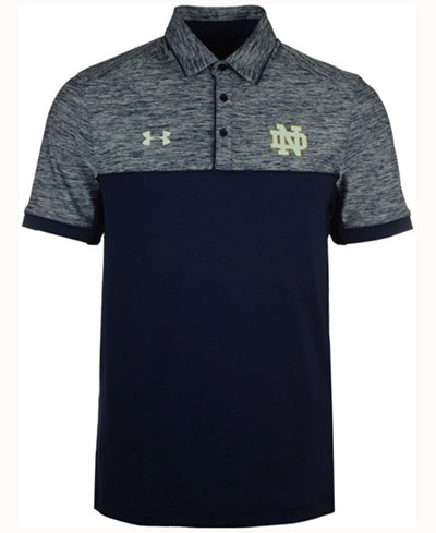 Under armour men 39 s notre dame fighting irish podium polo for Notre dame golf shirts