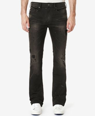 Bootcut destroyed jeans