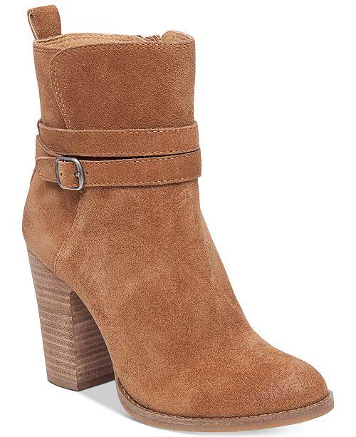 1bb7312f0c7 Lucky Brand Women s Latonya Block-Heel Booties   Reviews - Boots ...