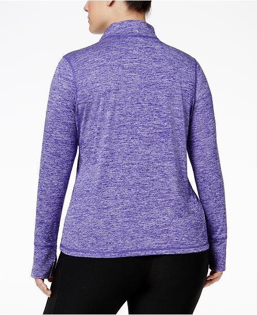 Top Plus Blazing Quarter Created Ideology Purple Rapidry Size Zip for Macy's XOCxwqfw