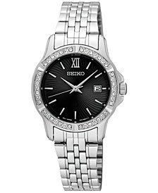 Seiko Women's Special Value Stainless Steel Bracelet Watch 28mm SUR733
