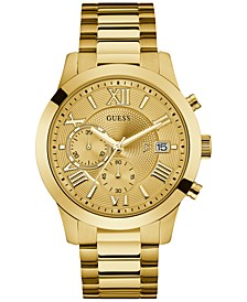 Men's Chronograph Gold-Tone Stainless Steel Bracelet Watch 45mm U0668G4