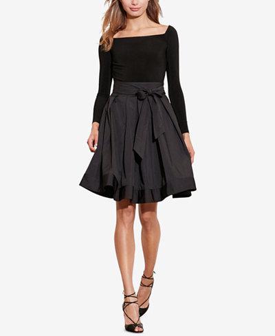 Lauren Ralph Lauren Jersey Taffeta Dress Dresses Women