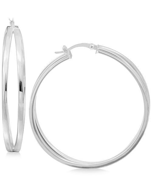 Macy's Split Hoop Earrings in Sterling Silver
