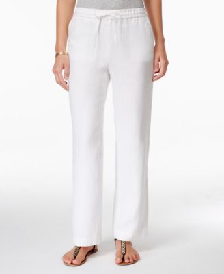 White Linen Pants: Shop White Linen Pants - Macy's