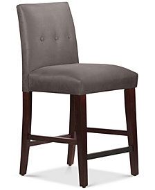 Mirrell Tapered Counter Stool with Buttons, Quick Ship