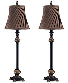 Kenroy Aruba Buffet 2-Pc. Table Lamp Set