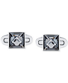 Swarovski Men's Stainless Steel Gray Crystal Cufflinks