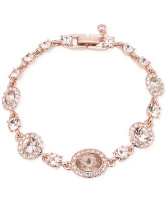 Image of Givenchy Faceted Stone and Crystal Pavé Link Bracelet