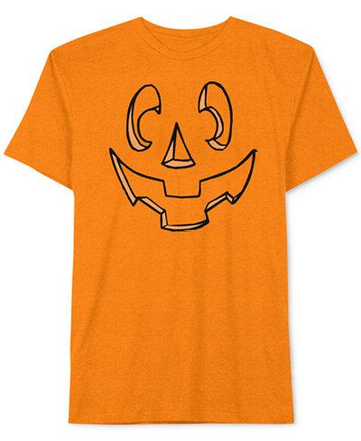 Jem Men's Carved Jack-O'-Lantern Pumpkin Halloween T-Shirt - T ...