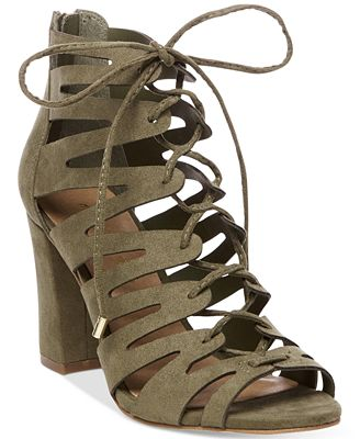 Madden Girl Banner Lace-Up Sandals