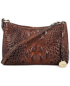 Brahmin Anytime Mini Melbourne Embossed Leather Shoulder Bag